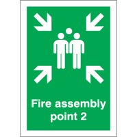 Fire Assembly Point 2 Signs