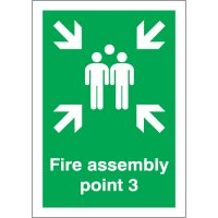 Fire Assembly Point 3 Signs