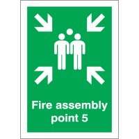 Fire Assembly Point 5 Signs