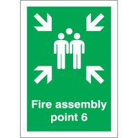 Fire Assembly Point 6 Signs