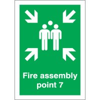 Fire Assembly Point 7 Signs