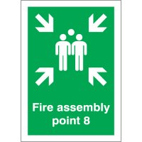 Fire Assembly Point 8 Signs