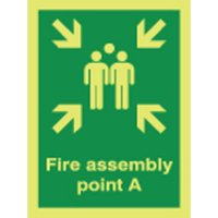 Fire Assembly Point A Photoluminescent Signs