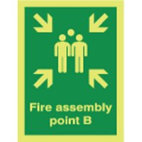 Fire Assembly Point B Photoluminescent Signs