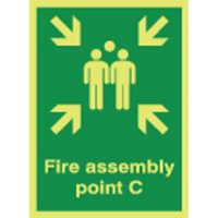 Fire Assembly Point C Photoluminescent Signs