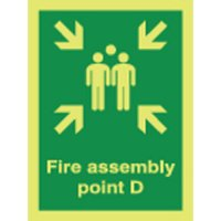 Fire Assembly Point D Photoluminescent Signs