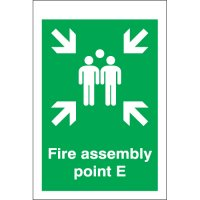 Fire Assembly Point E Signs