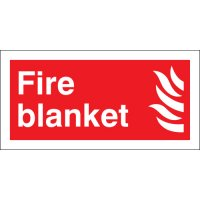 Plastic And Vinyl Fire Blanket Signs