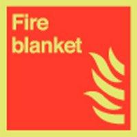 Fire Blanket Photoluminescent Signs