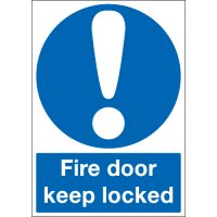 Essential fire safety 'keep door locked' signs