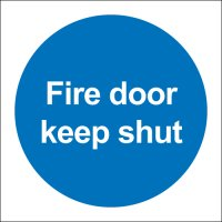 Fire Door Keep Shut (No Symbol) Polycarbonate Signs