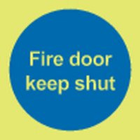 Fire Door Keep Shut (No Symbol) Photoluminescent Signs