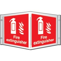 3D Projecting PVC 'Fire Extinguisher' Sign with Symbols