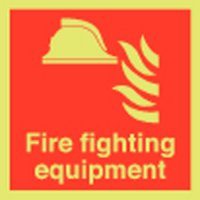 Fire Fighting Equipment Photoluminescent Signs
