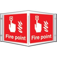 Fire Point Projecting 3D Signs