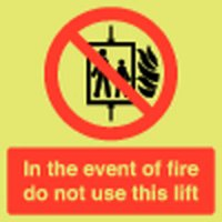 In The Event Of Fire... Photoluminescent Signs