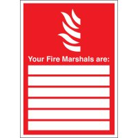 Customisable Fire Marshal Identifier Signs