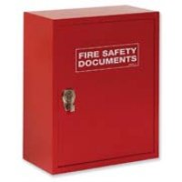 Secure cabinet for fire documents