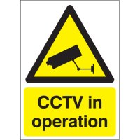 Durable Plastic CCTV In Operation Warning Signs