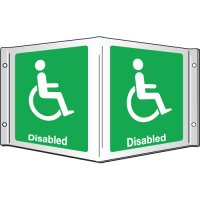 Disabled Projecting 3D Signs