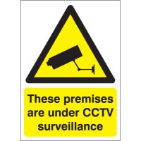 Durable Plastic And Vinyl CCTV Warning Signs