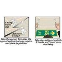 Simple Hanging Kit for Double-Sided Signs, with Clips, Pads and Hooks