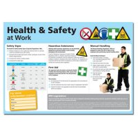 Plastic or Laminated Paper Health and Safety at Work Poster with Photographs