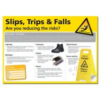 Essential Workplace Health & Safety 'Slips, Trips & Falls' Poster