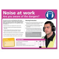 Eye-Catching Noise at Work Poster with Photographic Illustration