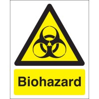 Durable Plastic Or Vinyl Biohazard Warning Signs