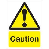 Plastic And Vinyl Caution Signs