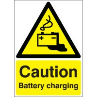 Caution Battery Charging Signs