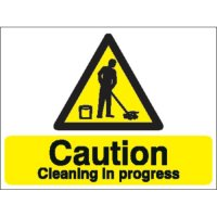Caution Cleaning In Progress' Stanchion Health and Safety Signs