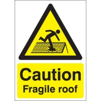Caution Fragile Roof Signs