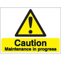 Caution Maintenance In Progress Stanchion Signs