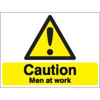 Caution Men At Work Stanchion Signs