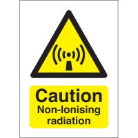 Clear and Highly Visible Caution Non-Ionising Radiation Signs