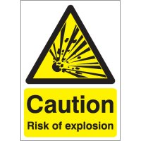 Highly Visible Caution Risk of Explosion Signs
