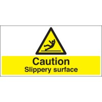 Caution Slippery Surface Stanchion Signs