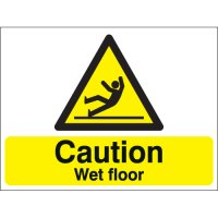 Caution Wet Floor Stanchion Signs