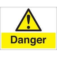 Danger Stanchion Signs
