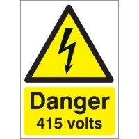 Danger 415 Volts Signs