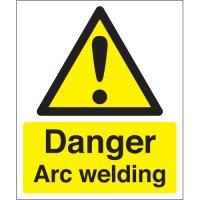 High-quality 'danger arc welding' signs