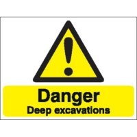 Danger Deep Excavations Stanchion Signs
