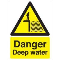Essential Danger Deep Water Warning Signs