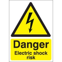 Danger Electric Shock Risk Polycarbonate Signs