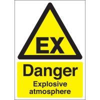 Universal 'danger explosive atmosphere' warning signs