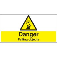 Danger Falling Objects Stanchion Signs