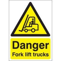 Danger Fork Lift Trucks Signs