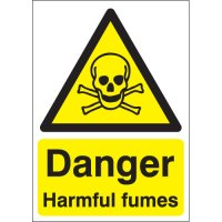 Danger harmful fumes health & safety hazard signs